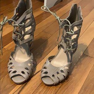 Fake snake skin Heels